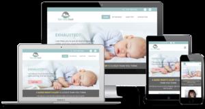 mobile optimized sleep coach website